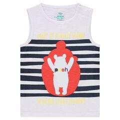 Αμάνικη μπλούζα από ζέρσεϊ slub ύφασμα με στάμπα Γουίνι το αρκουδάκι