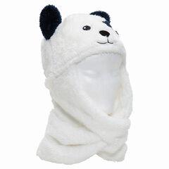 Σκούφος με ενσωματωμένο κασκόλ από sherpa σε σχήμα αρκουδάκι