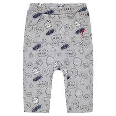 Ζέρσεϊ παντελόνι με εμπριμέ μοτίβο σε όλη την επιφάνεια