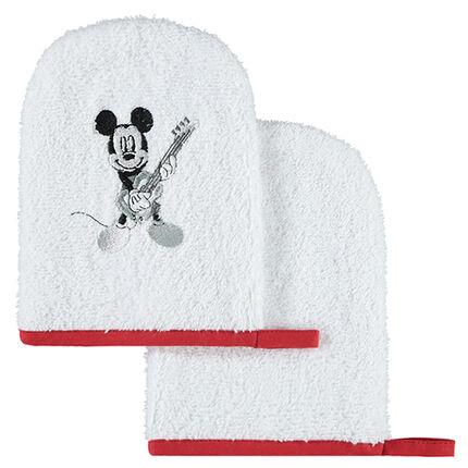 Σετ 2 πετσετέ γάντια μπάνιου με μοτίβο Μίκυ της Disney
