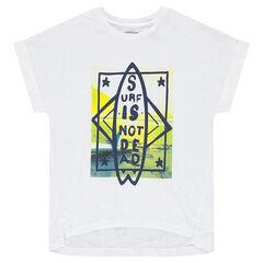 Παιδικά - Κοντομάνικη μπλούζα με τυπωμένη σανίδα σερφ μπροστά