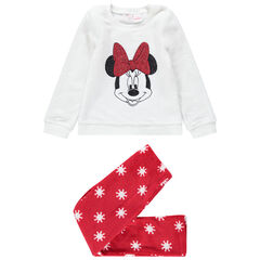 Δίχρωμη πιτζάμα από sherpa με τη Minnie της Disney από πούλιες
