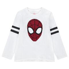 Μακρυμάνικη μπλούζα ζέρσεϊ με τον Spiderman της ©Marvel από «μαγικές» πούλιες