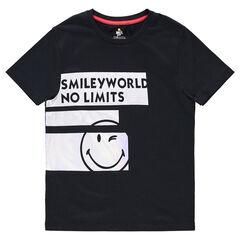 Παιδικά - Κοντομάνικη μπλούζα από ζέρσεϊ με λωρίδες και στάμπα ©Smiley