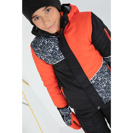 Παιδικά - Μπλούζα σκι με εμπριμέ γραφικά και τσέπες με φερμουάρ