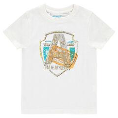 Παιδικά - Κοντομάνικη μπλούζα με φαντεζί τύπωμα