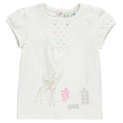 Κοντομάνικη μπλούζα με κεντήματα και στάμπα Bambi της Disney