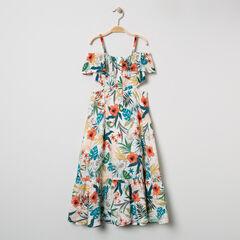 Μακρύ φόρεμα floral με ελεύθερους  ώμους.