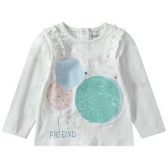Μακρυμάνικη μπλούζα από ζέρσεϊ με στάμπα με μπαλόνια και φρουφρού