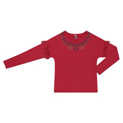 Παιδικά - Μπλούζα με κρόσσια και έθνικ μοτίβα