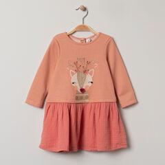 Φόρεμα  2 σε 1 με τυπωμένα ζωάκια κι κεντήματα