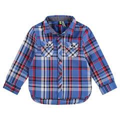 Παιδικά - Μακρυμάνικο πουκάμισο με μεγάλα καρό και τσέπες