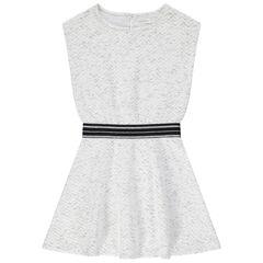 Παιδικά - Κοντομάνικο φόρεμα από φανέλα με γυαλιστερή ζώνη