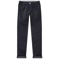 Παιδικά - Μονόχρωμο slim βελουτέ παντελόνι με τσέπες