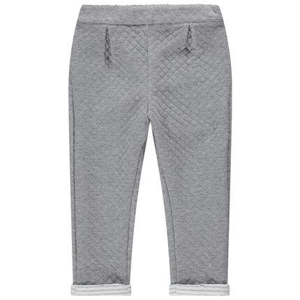 Φαντεζί παντελόνι από φανέλα με λάστιχο στη μέση