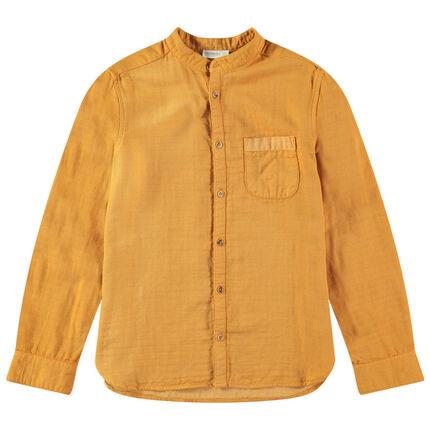 Μακρυμάνικο πουκάμισο με γιακά μάο
