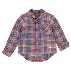 Μακρυμάνικο καρό πουκάμισο με τσέπη