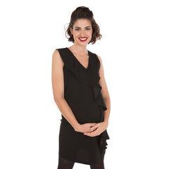 Αμάνικο φόρεμα εγκυμοσύνης με βολάν
