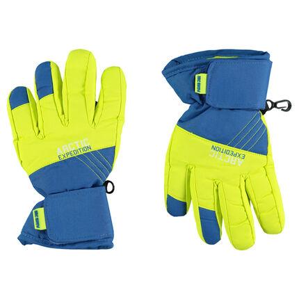 Αδιάβροχα δίχρωμα γάντια του σκι με επένδυση μικροφλίς