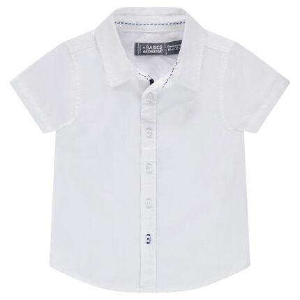 Μονόχρωμο κοντομάνικο πουκάμισο