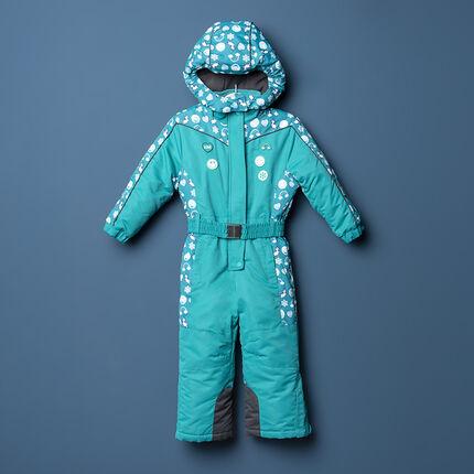 Combinaison de ski imprimée Smiley doublée polaire