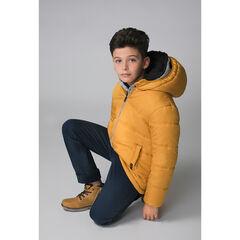 Παιδικά - Καπιτονέ μπουφάν με κουκούλα και φλις επένδυση