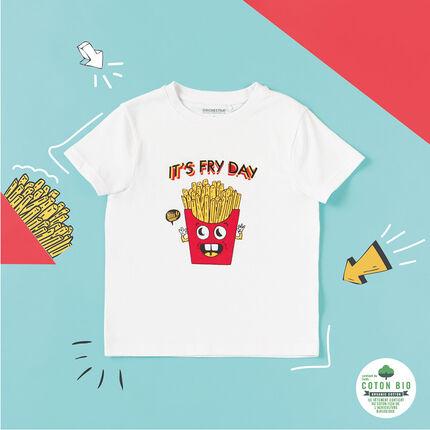 Κοντομάνικη μπλούζα από βιολογικό βαμβάκι με στάμπα τηγανητές πατάτες