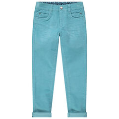 Slim παντελόνι από βελούδο χωρίς πέλος