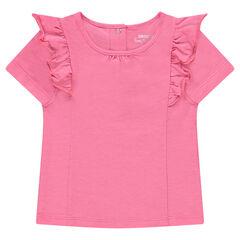 Κοντομάνικη μπλούζα από ζέρσεϊ με βολάν
