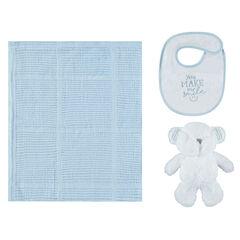Σετ δώρου για το μωρό  με κουβέρτα, σαλιάρα και λούτρινο   , Prémaman