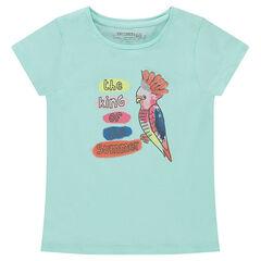 Κοντομάνικη μπλούζα από ζέρσεϊ με διακοσμητική στάμπα