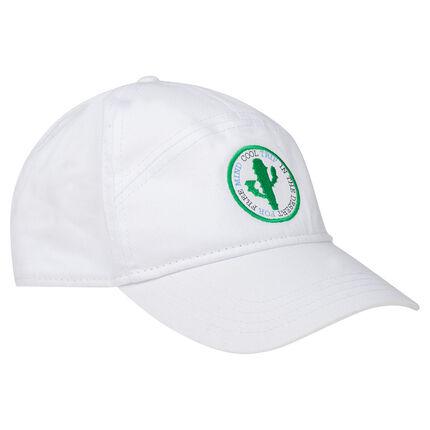 Καπέλο από σερζέ ύφασμα με κεντημένο κάκτο