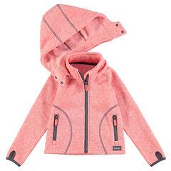 Ζακέτα του σκι διπλής όψης, με αφαιρούμενη κουκούλα και τσέπες με φερμουάρ