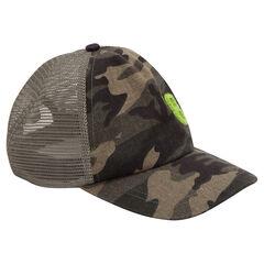 Καπέλο από τουίλ με μοτίβο μιλιτέρ και δίχτυ πίσω