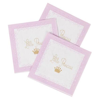 Σετ με 20 χαρτοπετσέτες γενεθλίων με σχέδιο με πριγκίπισσα