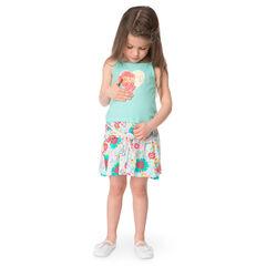 Φόρεμα 2 σε 1 με μαγικές πούλιες και φλοράλ μοτίβο