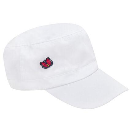 Καπέλο από τουίλ με κεντημένη πεταλούδα