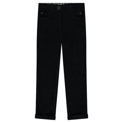 Παιδικά - Μονόχρωμο παντελόνι βελουτέ χωρίς πέλος
