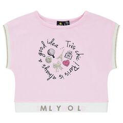 Κοντομάνικη μπλούζα από ζέρσεϊ με στάμπα ©Smiley