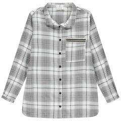 Παιδικά - Μακρυμάνικο καρό πουκάμισο με τυπωμένη φράση στην πλάτη
