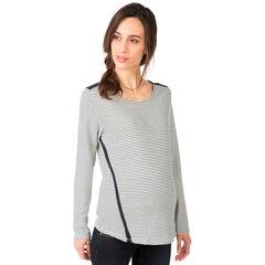 Μακρυμάνικη μπλούζα εγκυμοσύνης με κορδόνια στην πλάτη
