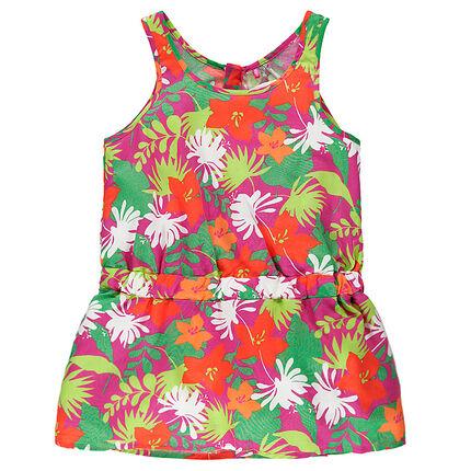 Παιδικά - Αμάνικη πουκαμίσα με τύπωμα λουλουδιών