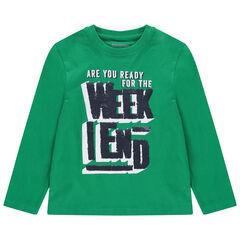 Μακρυμάνικη μπλούζα με φράση από «μαγικές» πούλιες