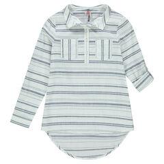 Παιδικά - Μακρυμάνικο πουκάμισο με διακοσμητικές ρίγες