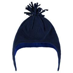 Bonnet en micropolaire avec pompon