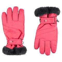 Αδιάβροχα γάντια του σκι με βέλκρο και sherpa