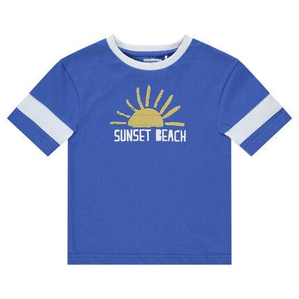 Μακρυμάνικη μπλούζα από ζέρσεϊ με τυπωμένο ήλιο