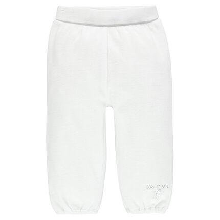 Βελούδινο παντελόνι με ελαστική μέση.