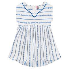 Χυτό φόρεμα oversize με έθνικ κεντήματα