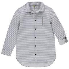 Παιδικά - Μακρυμάνικο ριγέ πουκάμισο με τσέπη